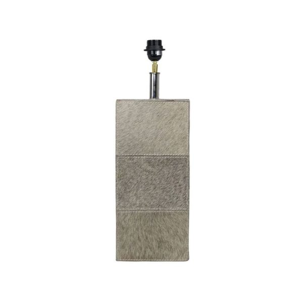 Lamp Base Cow  Gray  Square Leather 13